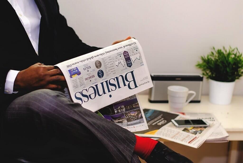 nieuwe klanten lees de krant acquisitie