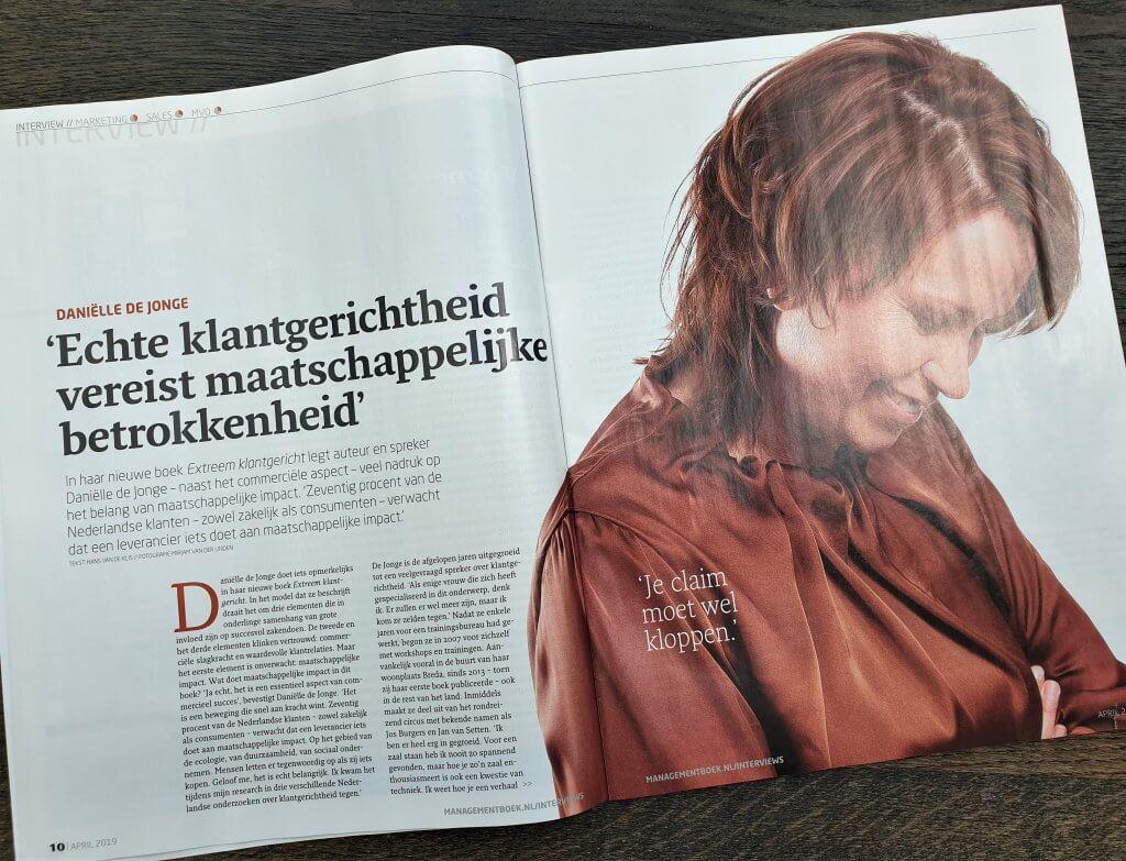 managementboek magazine danielle de jonge extreem klantgericht fan van klanten