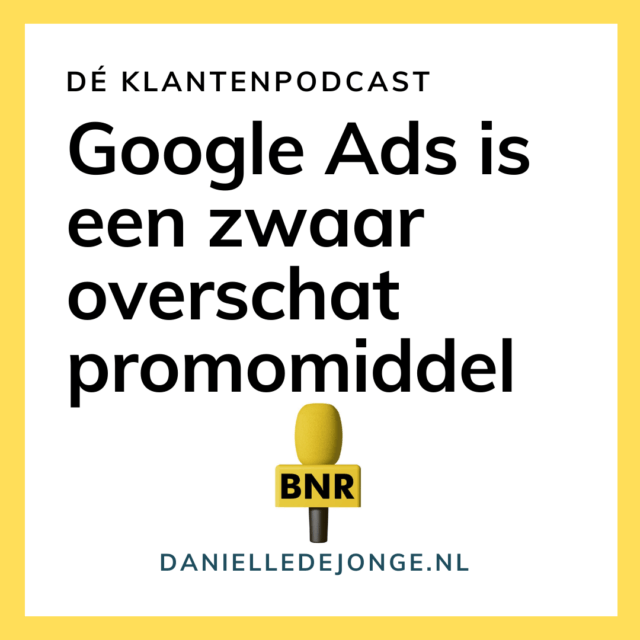 Google Ads is een zwaar overschat promomiddel