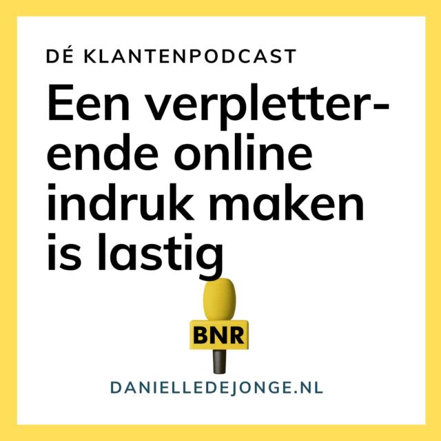 Een verpletterend goede online indruk maken is lastig Danielle de Jonge Niek van den Adel